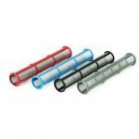Airless pump outlet filters