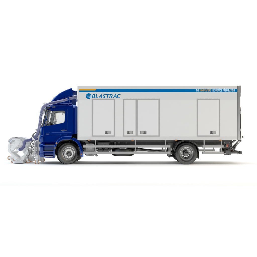 Truck Mounted Blastrac 2-45DTM Truck Mounted System