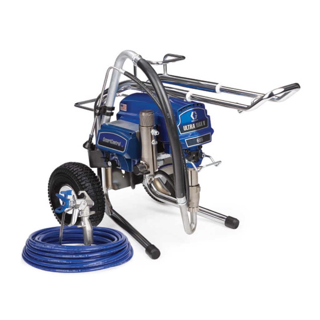 Professional Large Sprayers Graco Ultra Max II Standard 695 Lo-Boy Electric Airless Paint Sprayer