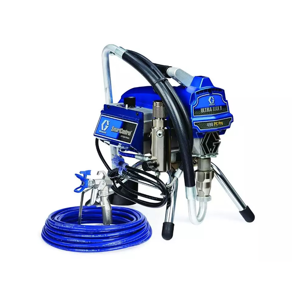 Professional Small to Medium Size Sprayers Graco Ultra Max II 490 PC Pro Stand Electric Airless Paint Sprayer