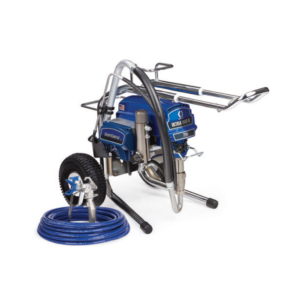 Professional Large Sprayers Graco Ultra Max Standard II 795 Lo-Boy Electric Airless Paint Sprayer