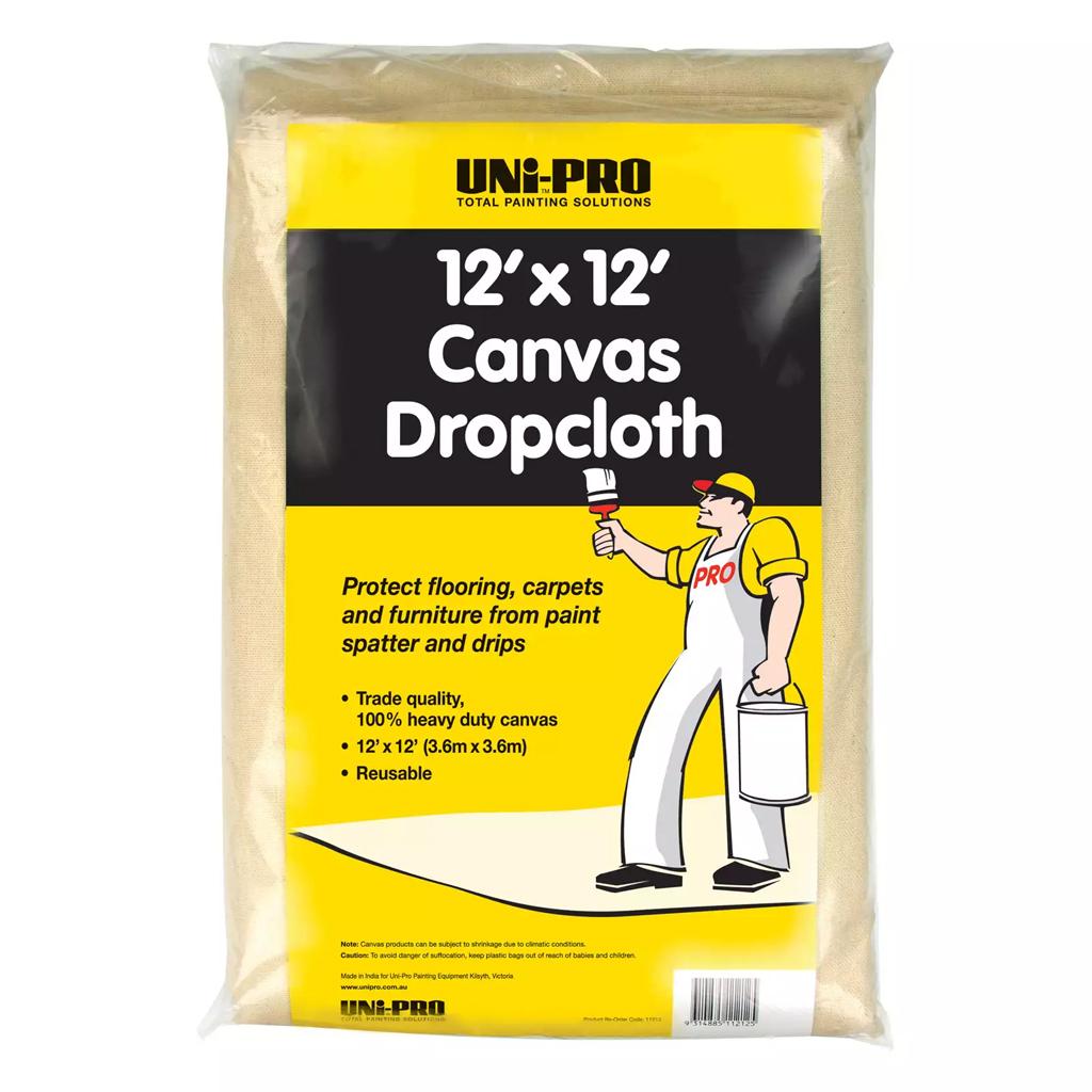 Hand tools and Prep Canvas Drop Cloth 12 x 12