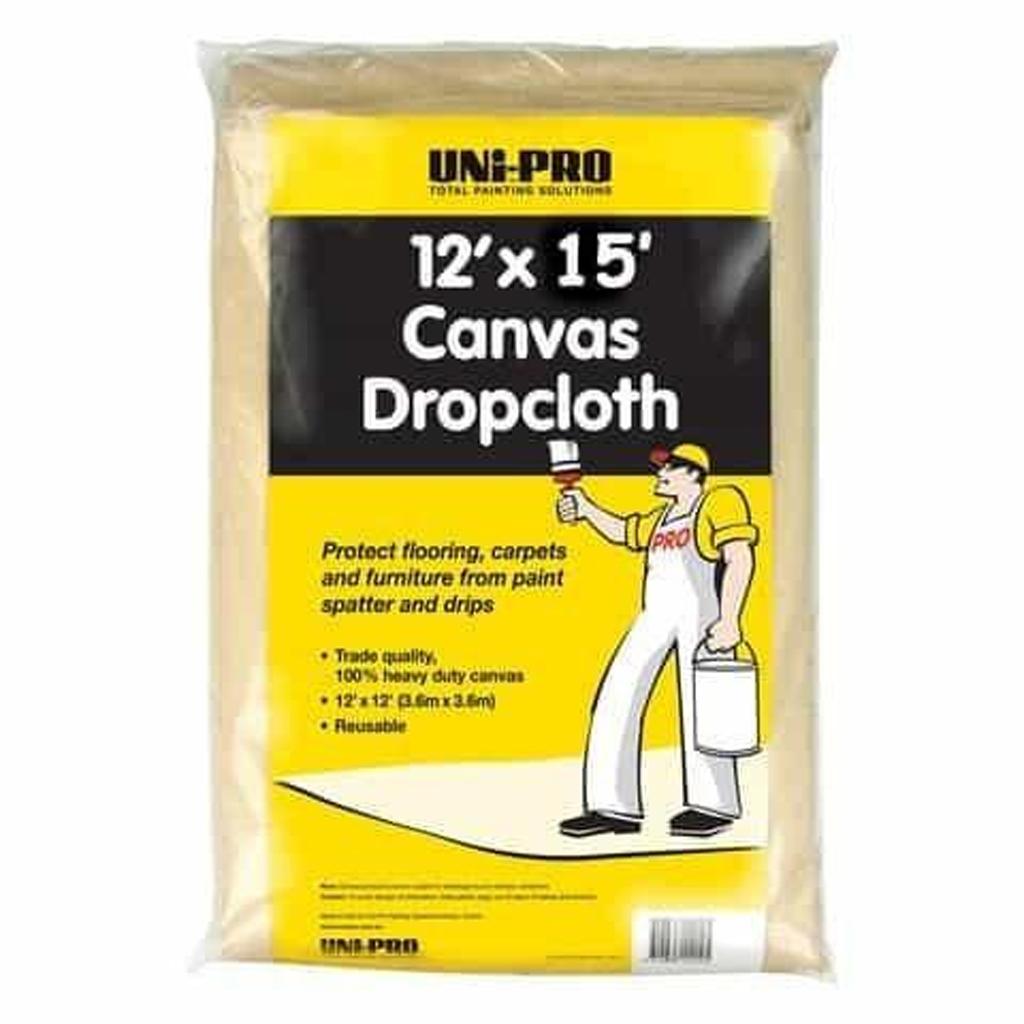 Hand tools and Prep Canvas Drop Cloth 15 x 12