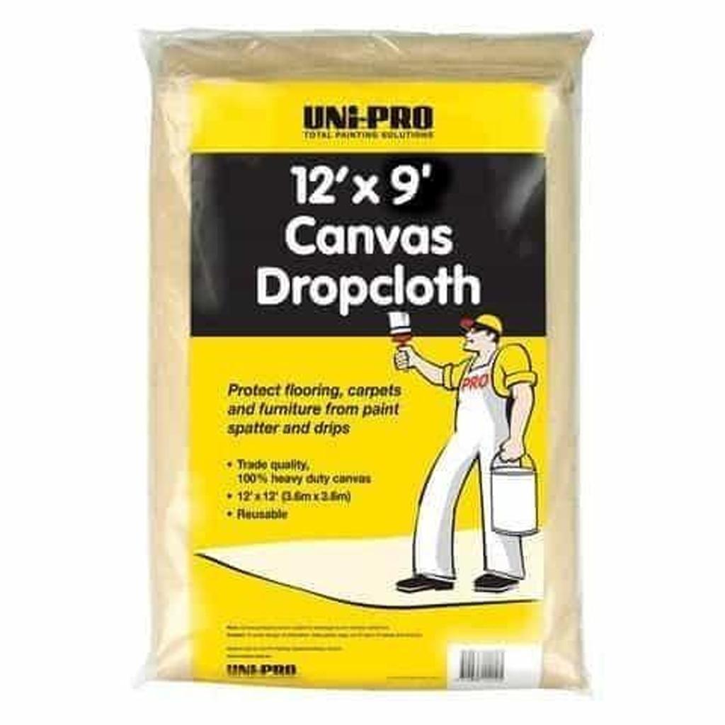 Hand tools and Prep Canvas Drop Cloth 9 x 12