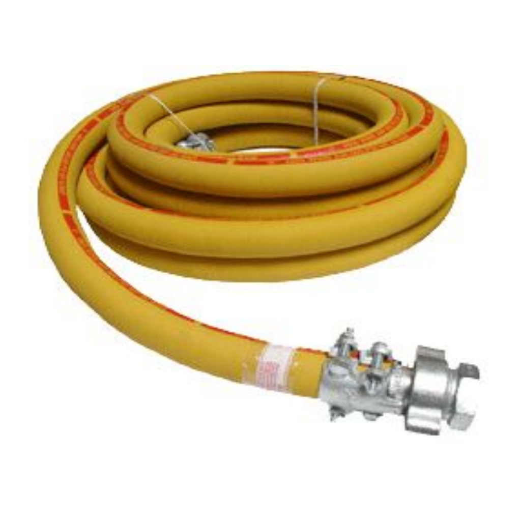 Psi heavy duty air hose with claw and clamps