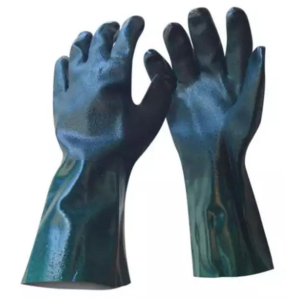 PPE Green PVC Gauntlet