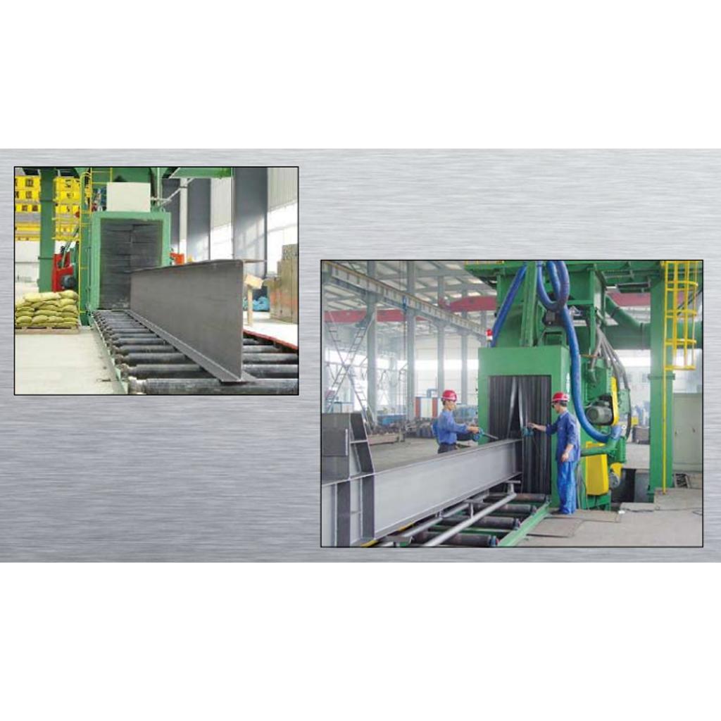 Stationary Wheelblast Equipment H-shaped Steel Shot Machine