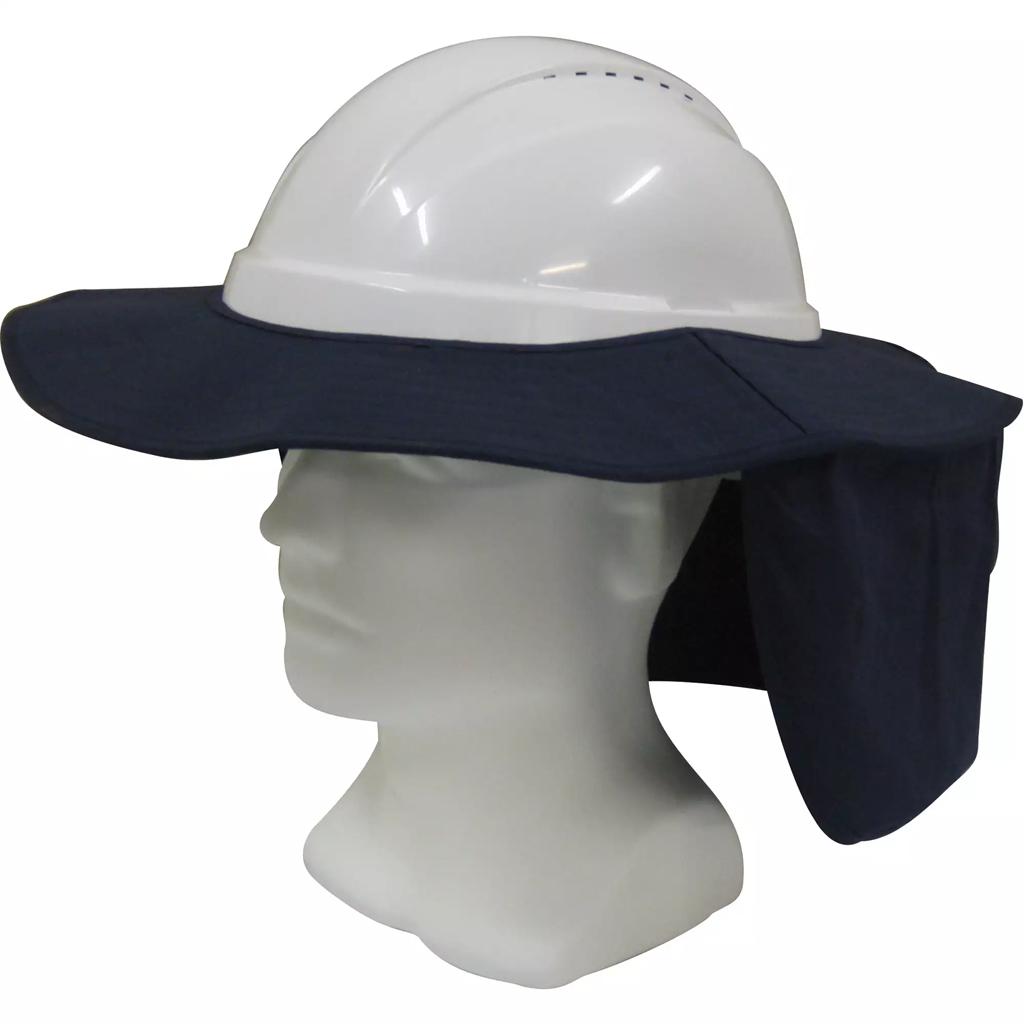 PPE Hat Brim with Neck Flap