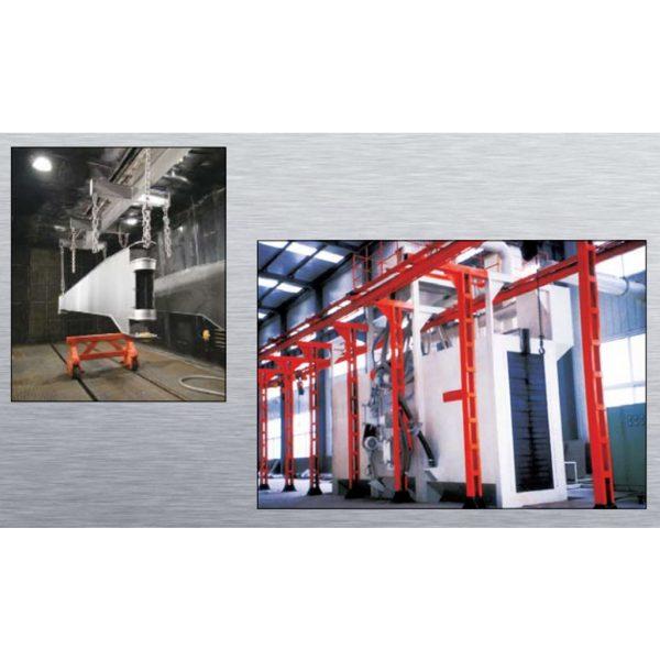Stationary Wheelblast Equipment Hanger Pass-through Shot Machine