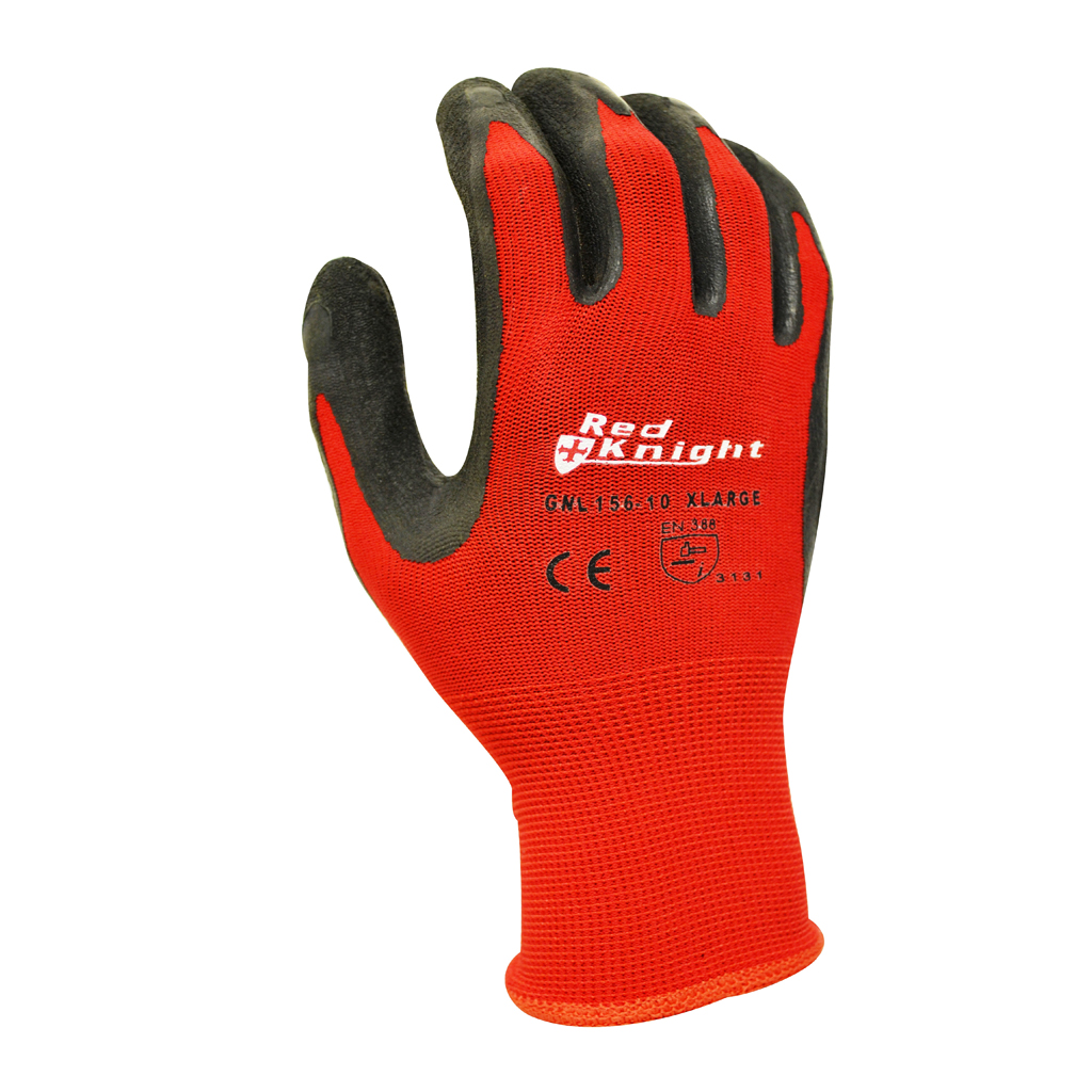 PPE Red Knight Latex Gripmaster Glove