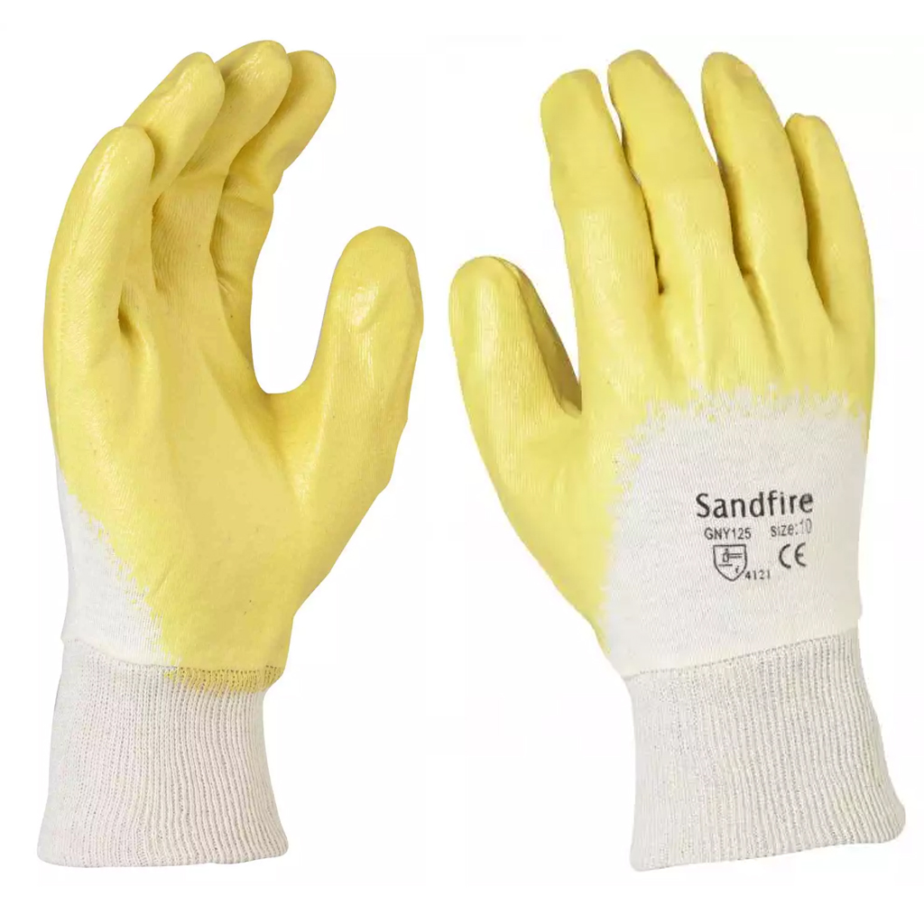 PPE Sandfire Yellow Nitrile dipped