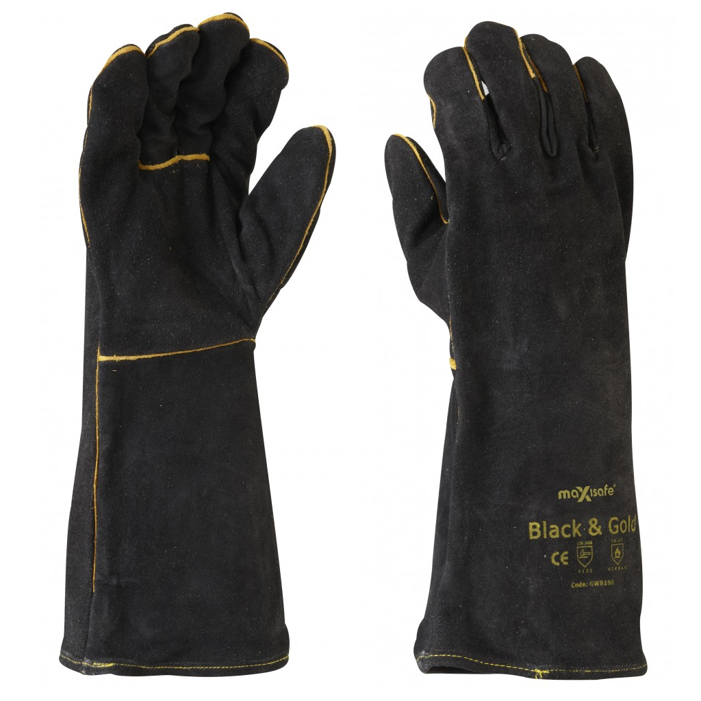 PPE Black and Gold Welders Gloves