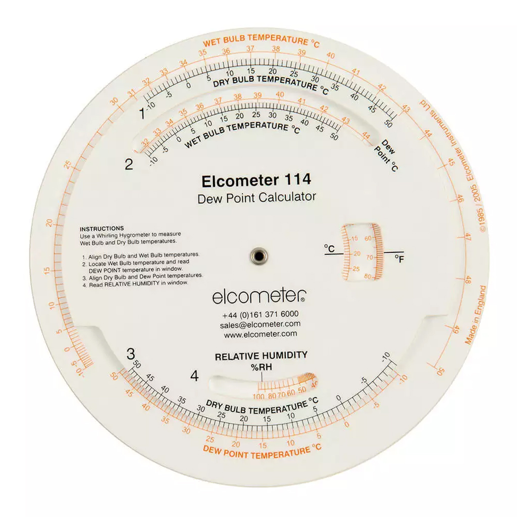 Climatic Testing Elcometer Dew Point Calculator