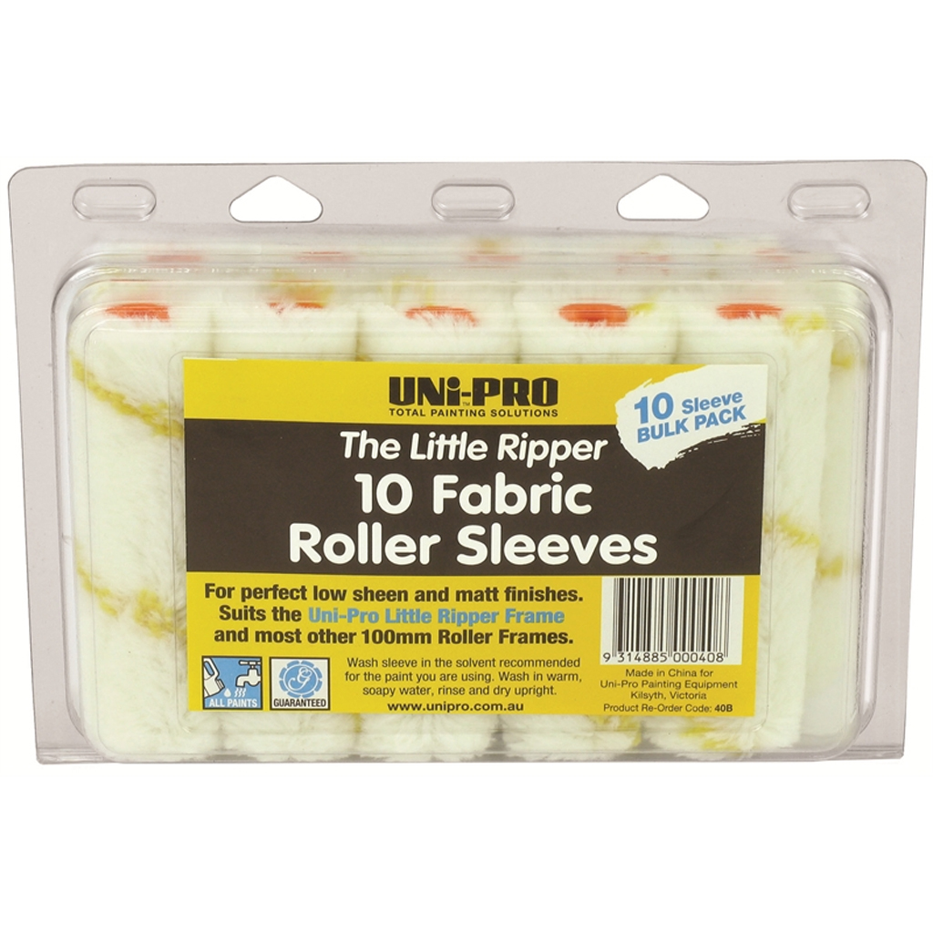 100mm Fabric Roller cover 10Pk