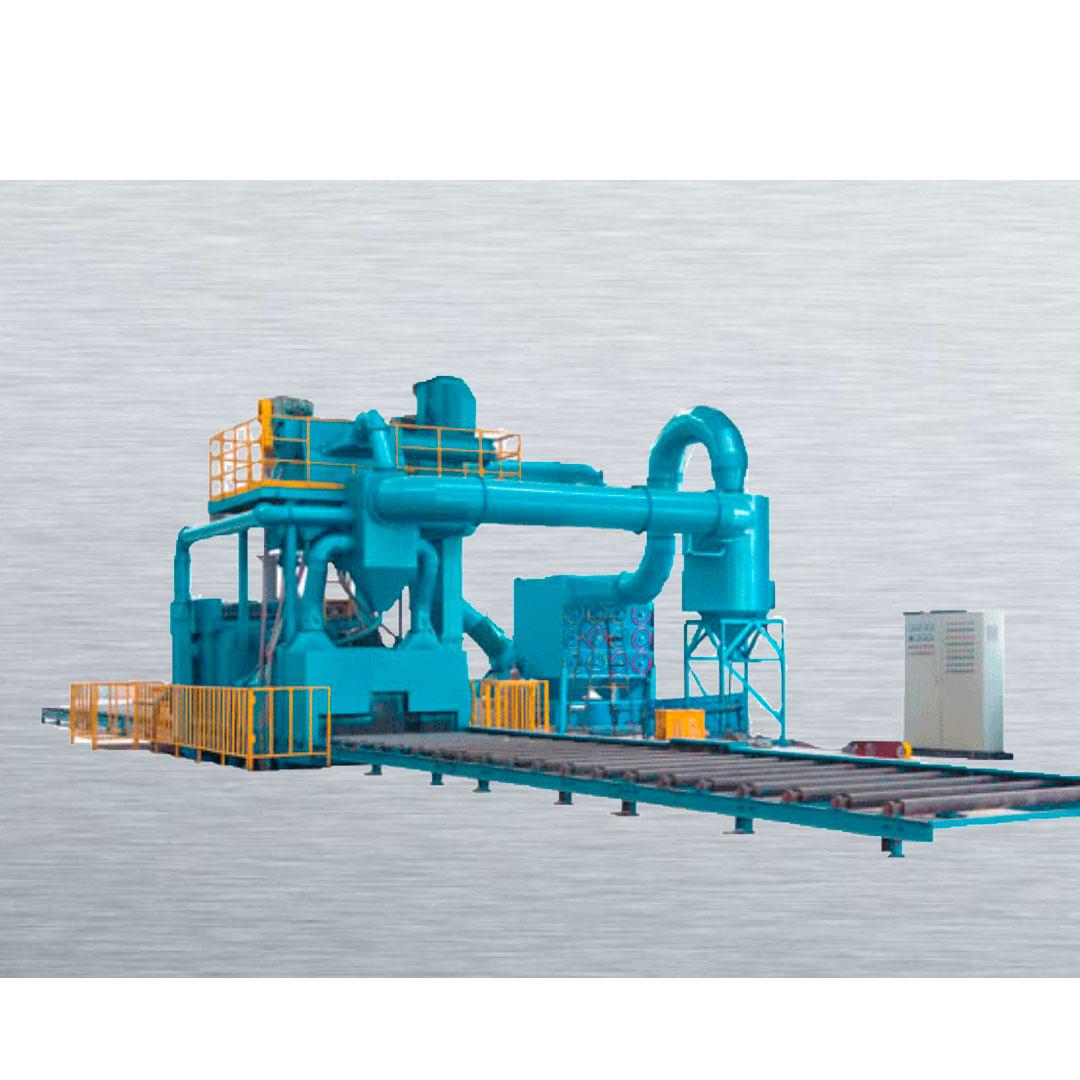 Stationary Wheelblast Equipment Steel Profiles Shot Blasting Machine
